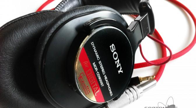 MDR-CD900ST脱着加工/メッシュケーブル