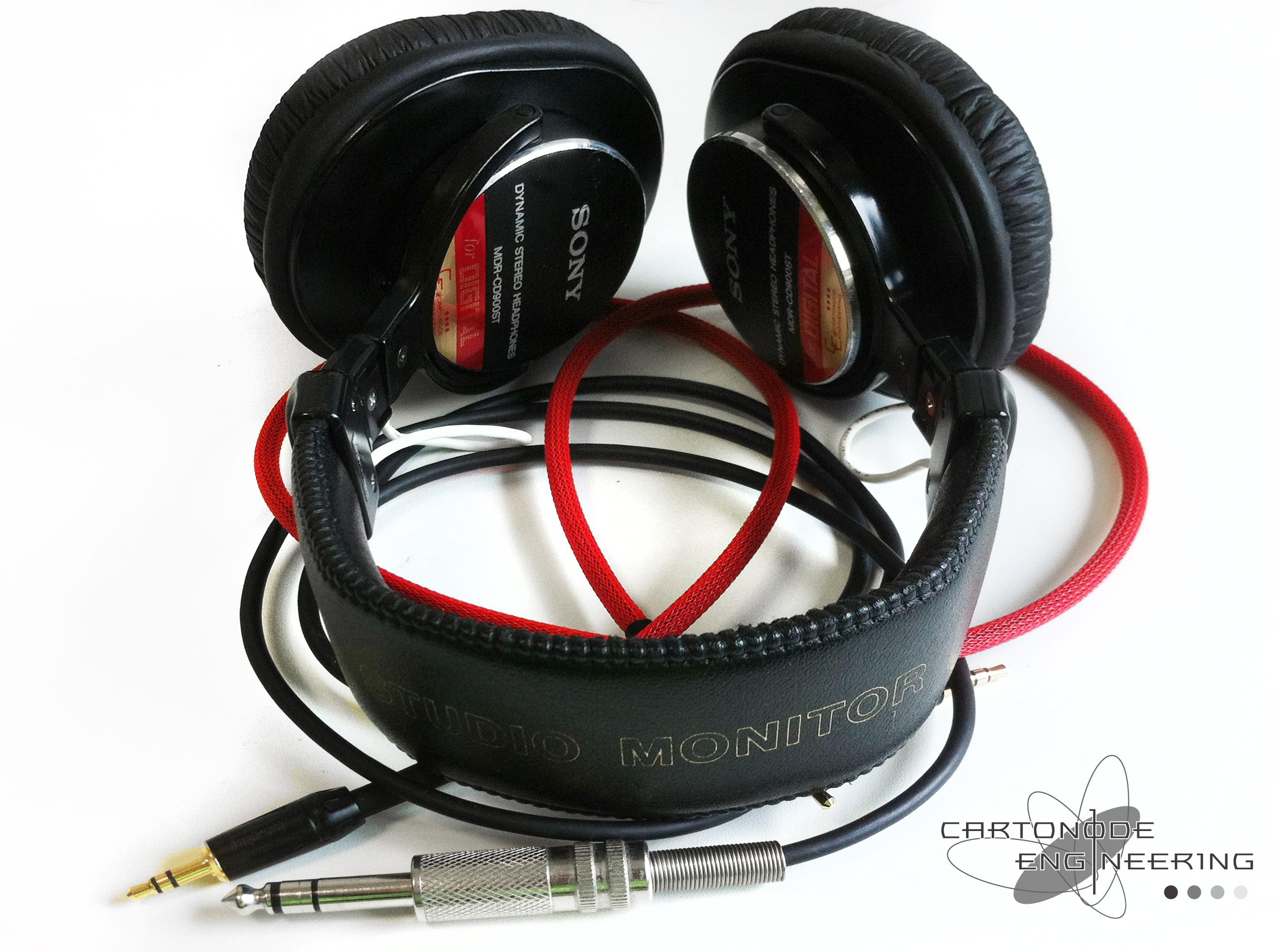 <MDR-CD900ST> ★脱着加工/渡り線被覆/メッシュケーブル