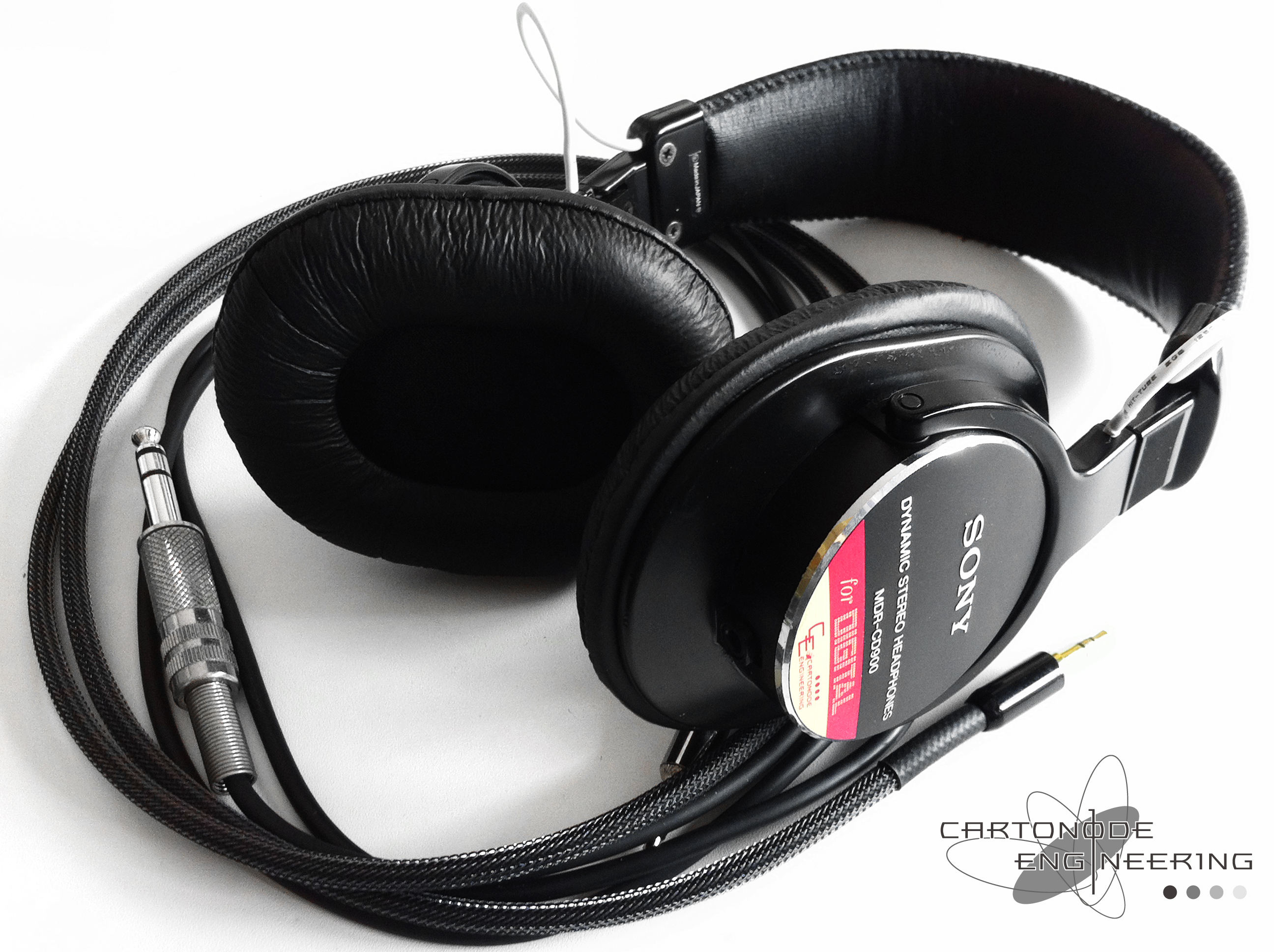 <MDR-CD900ST(MDR-CD900)>★脱着加工/渡り線被覆/メッシュケーブル