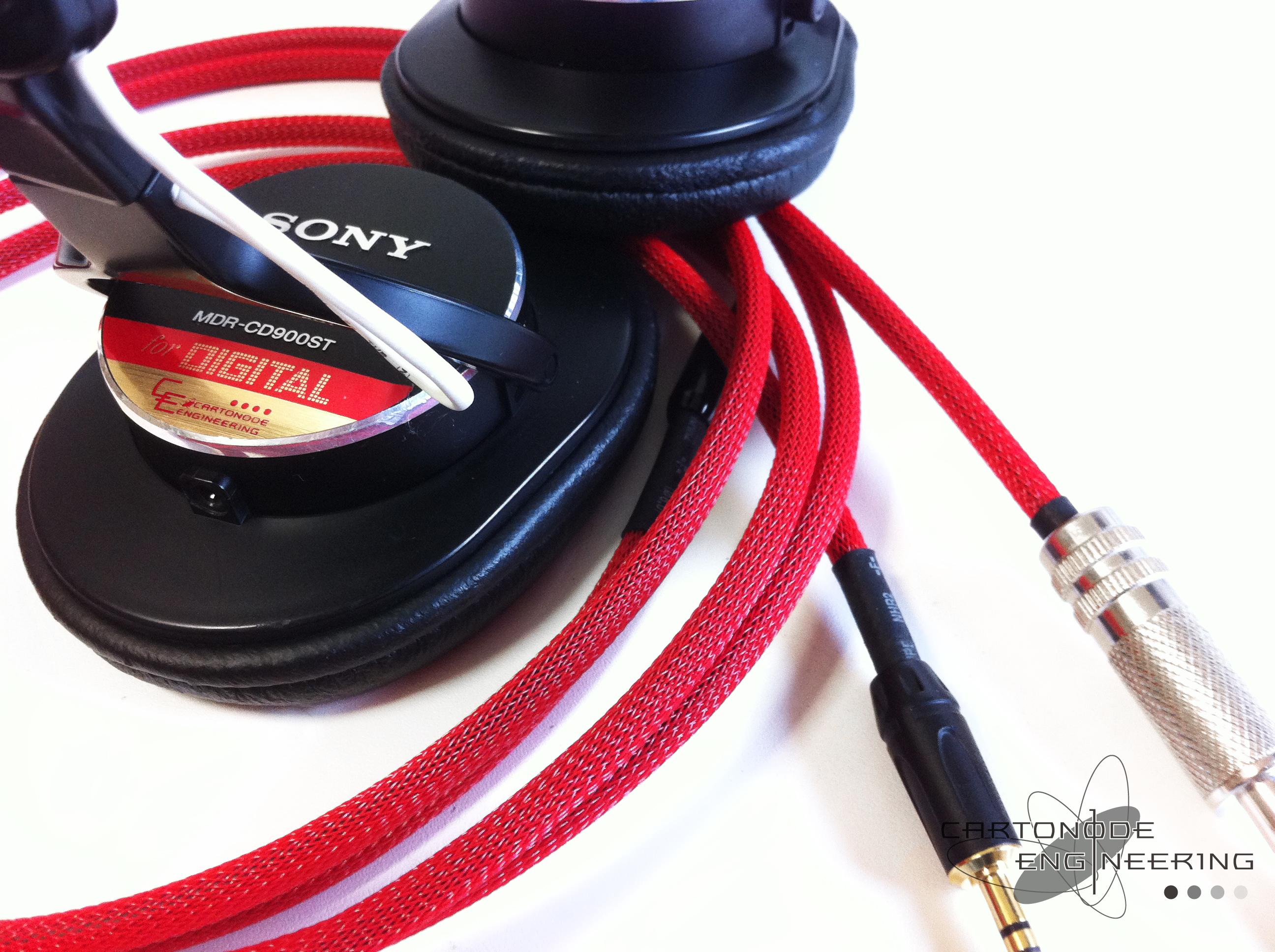 <MDR-CD900ST>★脱着加工+ケーブル2種/渡り線交換加工