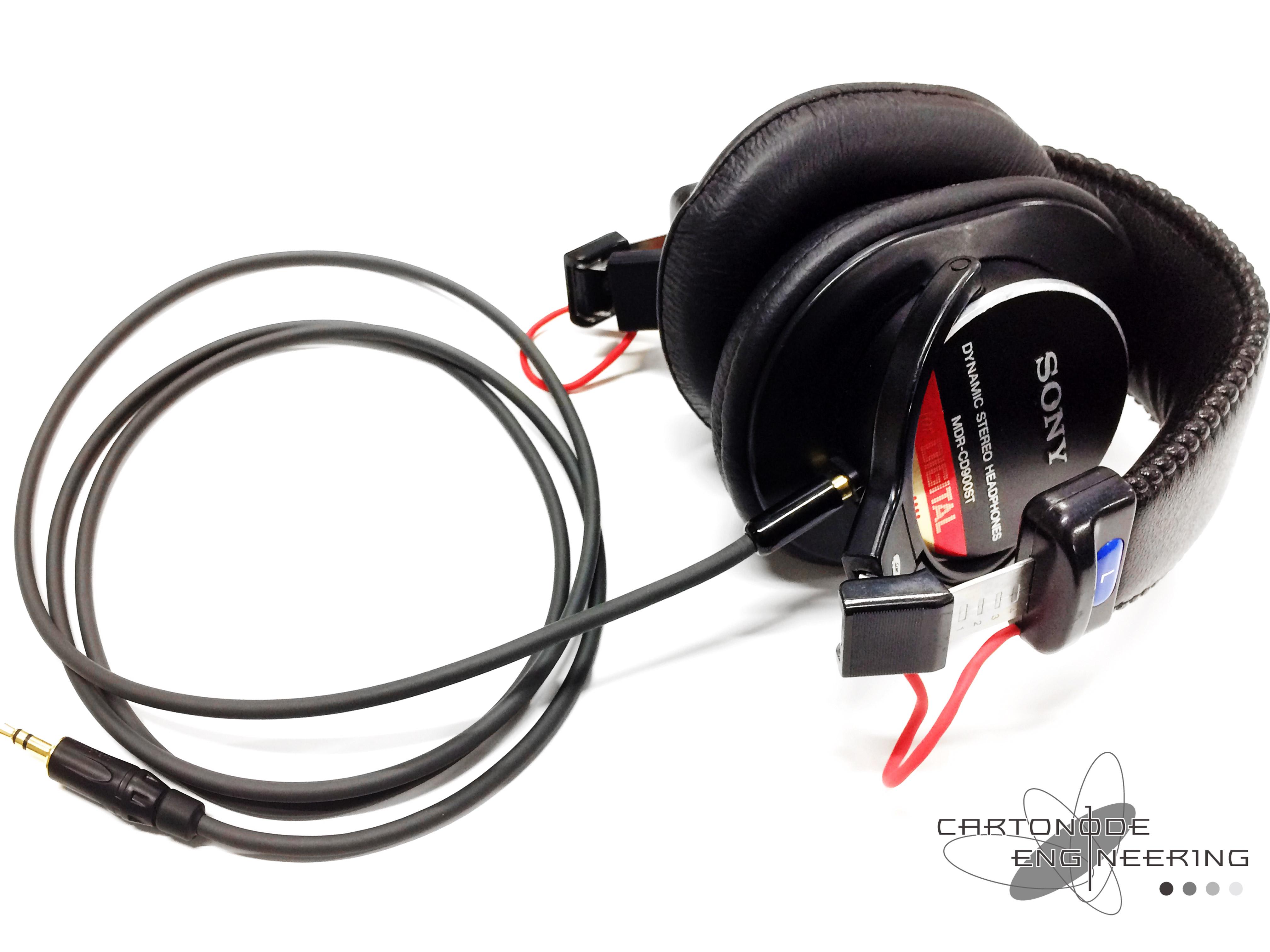 MDR-CD900ST4芯ケーブル脱着加工・折りたたみ加工