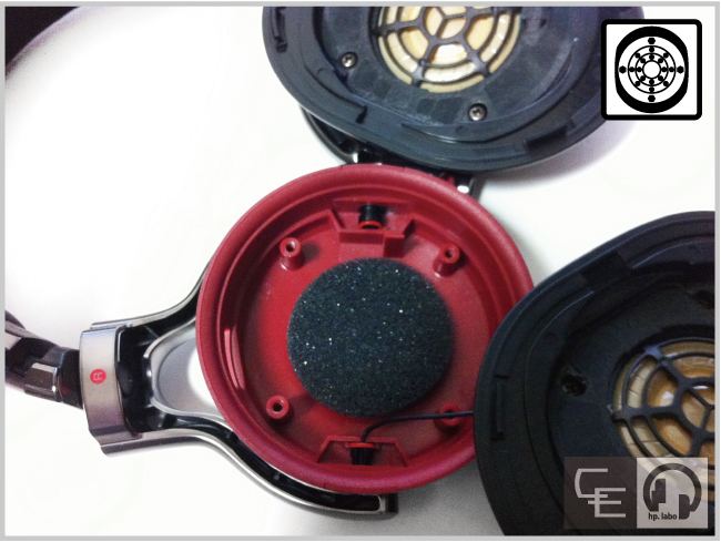 MDR-1R ハウジング防振調音加工